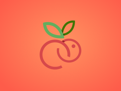 Logo fruits rabbit color branding logo