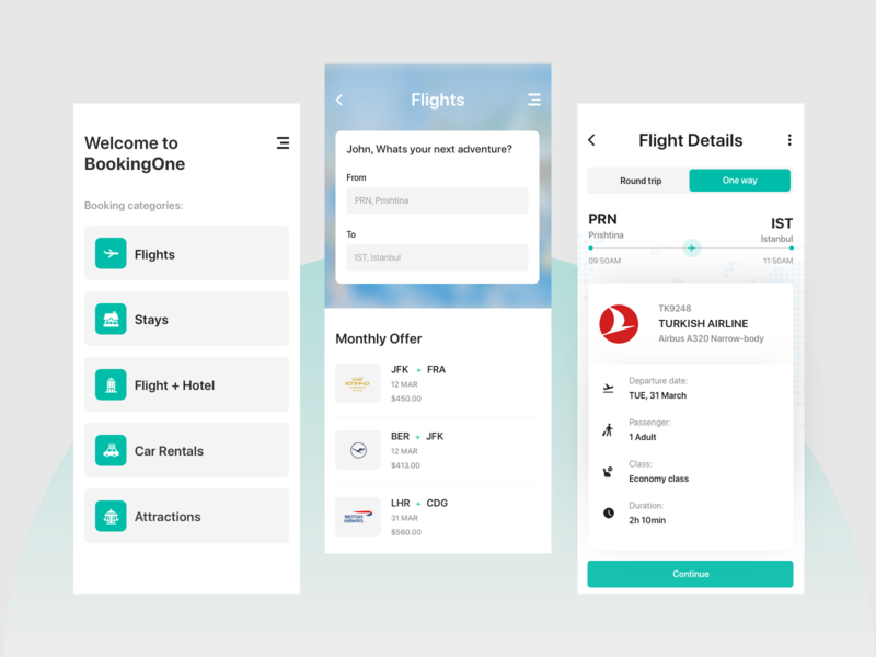 Booking App mobile app color user interface dribbble user experience design clean ux ui