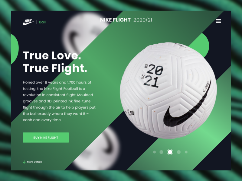 NIKE FLIGHT soccer green color user interface dribbble user experience design clean ux ui