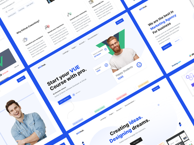 Kithub Landings Theme consistency landingpage themes webdesign website user interface dribbble user experience design color clean ux ui