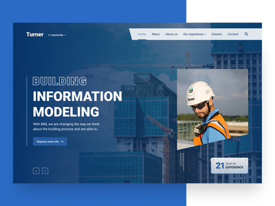Website Redesign Concept redesign website construction user interface dribbble user experience design clean ux ui