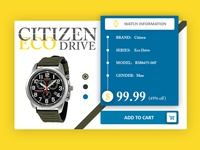 Citizen Eco Drive Watch