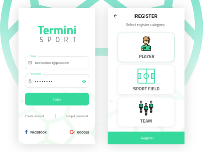 Termini Sport App sport ux ui muzli dribbble userinterface userexperience mobile app