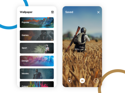 Wallpaper App app color interaction dribbble user interface user experience design clean ux ui