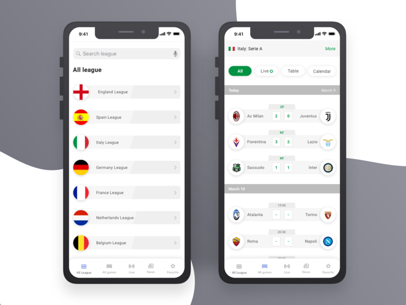 Live Result app color user interface dribbble user experience design clean ux ui