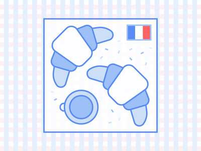 Le Quatorze Juillet picnic coffee france croissant bastille national french