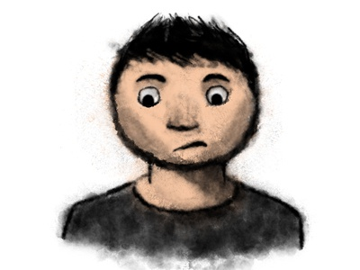 Uncomfortable Guy cartoon illustration comic