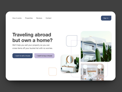 30 Day Challenge - Day 8 hero section hero image architecture house home real estate realestate 30 days of design 30daysofdesign 30 day challenge 30daychallenge web design ui