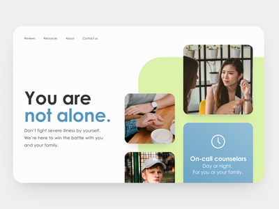 30 Day Challenge - Day 10 hero image hero section hero counselling counseling mental illness mental health 30 day challenge 30 days of design 30daysofdesign 30daychallenge web design webdesign website ui