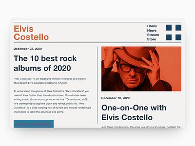 Elvis swiss design swiss style swiss helvetica neue helvetica music musician blog website web design web