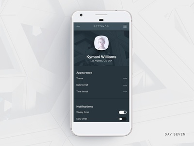 Daily UI - Day Seven