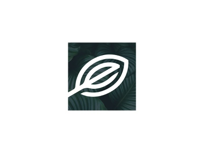 Elevate Holistics Logo Mark square mark logo design leaf e elevate holistics elevate brand icon vector branding logo design