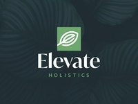 Elevate Holistics Logo nature logotype square vector logo design logo leaf elevate holistics elevate design branding brand