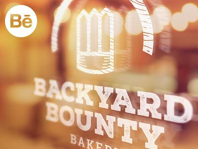 Backyard Bounty Bakery on Behance behance cooking backyard bounty backery bakery food icon logo design