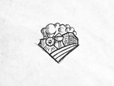 City Woodcut Concept