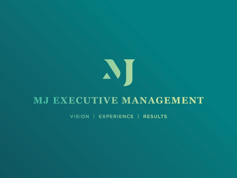 MJ Logo Color Options: Dark logo design flat typography icon vector branding type brand teal mj monogram