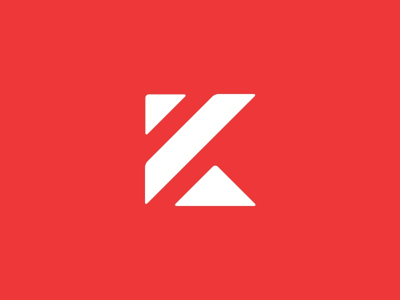 "Kornhaas Logo ""K"" Mark logo design branding logo design brand logotype typography red construction kornhaas k icon"