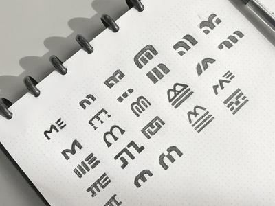 M Logo Sketches