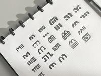M Logo Sketches