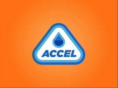 Accel Fuels Logo gas station accel retro mark flat icon branding brand concept design logo design logo