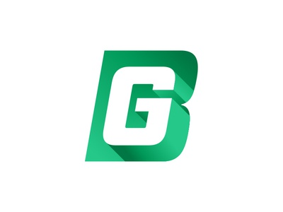 BG Logo Mark green brian gilder 3d monogram bg mark icon branding brand design logo design logo
