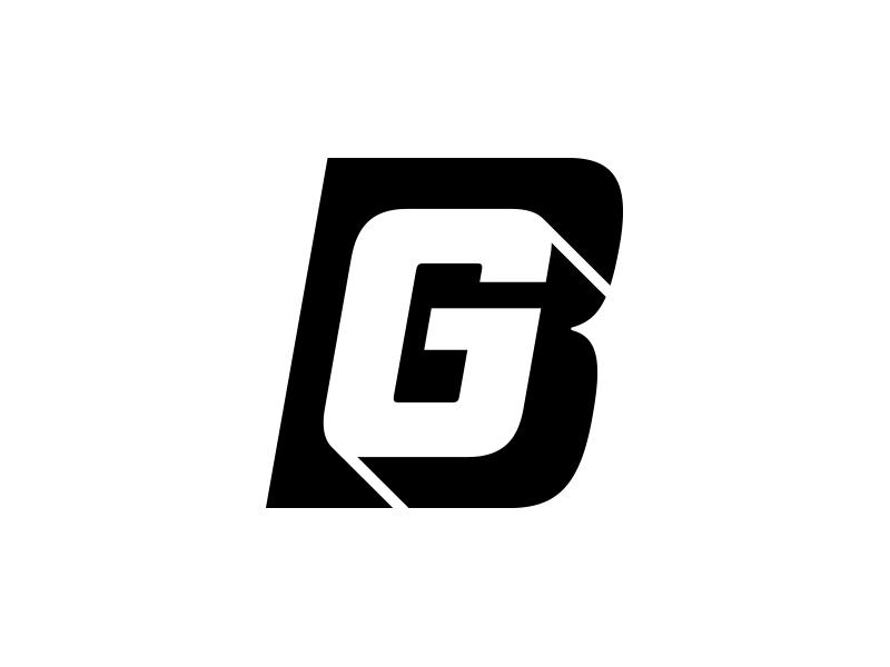 BG Logo Mark - Single Color logo logo design design brand branding icon mark bg monogram black brian gilder black and white