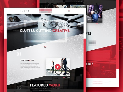 Agency Website Redesign black red ui design site homepage ux ui webdesign web design design web website