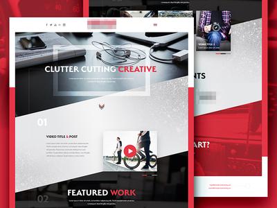 Agency Website Redesign black red ui design site homepage ux ui webdesign web design design web website