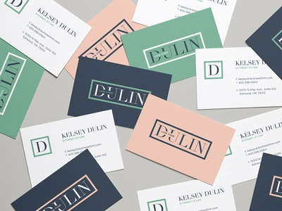 Dulin Logo Color Exploration law firm law anthropologie type fashion business card colors branding brand design logo design logo