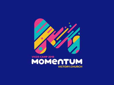 Momentum Logo Animation m motion branding animation icon flat typography video design logo design logo brand identity