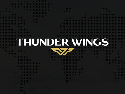 Thunder Wings Logo logo branding icon brand gold identity logo design mark symbol travel thunder wings fly