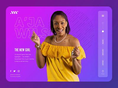 A'ja Wilson Website Animation video motion animated animation ui ux web website basketball ui design web design wnba aja wilson