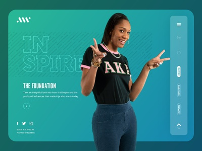 A'ja Wilson Website: Inspire Landing ui ux web website basketball desktop homepage photography ui design web design wnba aja wilson