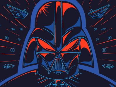 Shiney Guy darthvader illustration star wars