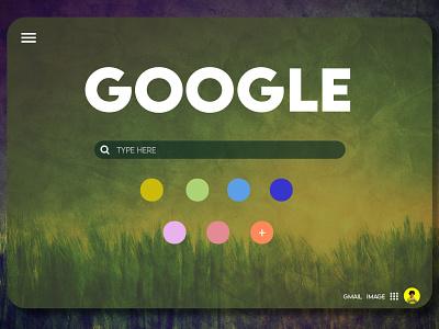 GOOGLE product typography ux ui graphic design