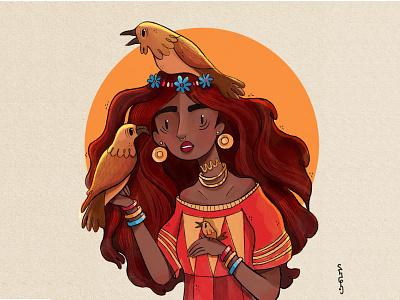 Chayas DTIYS design drawing girl illustration