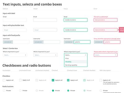 UI Kit - Inputs spec kit interface ux ui