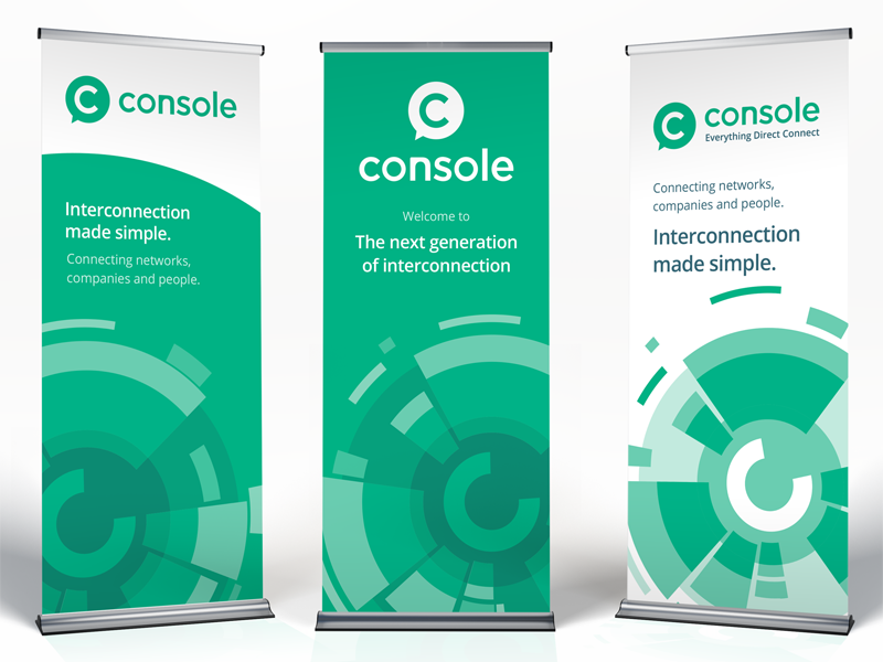 Console roll-up banners by Paul Hatch for Console Connect by ...