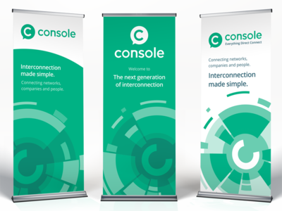 Console roll-up banners