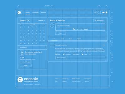 Blueprint - Activity feed grid guides application web interface ux ui
