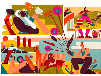 Nikon Pro Magazine editorial illustration app illustration design flat illustration vector illustration character design advertising illustration illustrator branding illustration