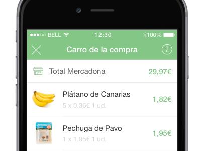 Comprea cart screen shopping grocery ios mobile cart