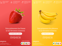 Fruit based posters for Comprea
