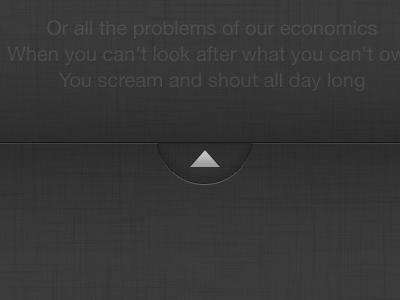 SingIt! Slide up to show favs from lyrics app mobile iphone music sing lyrics slide
