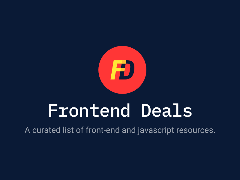 Frontend Deals logo resources js frontend