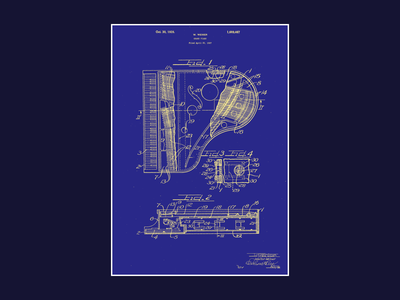 Piano Patent Poster print poster piano