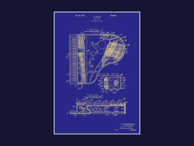 Piano Patent Poster print poster piano