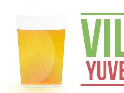 Beer simple illustration beer illustration basic logo bar