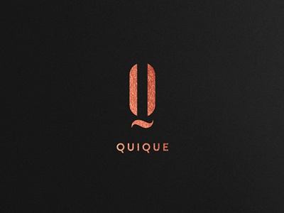 Quique cosmetics branding brand mark logo symbol tree gold elegant clothing shop business company classy