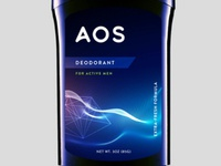AOS deodarant label